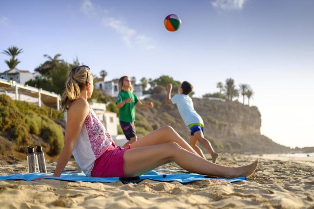 Familientag am Strand Fuerteventura