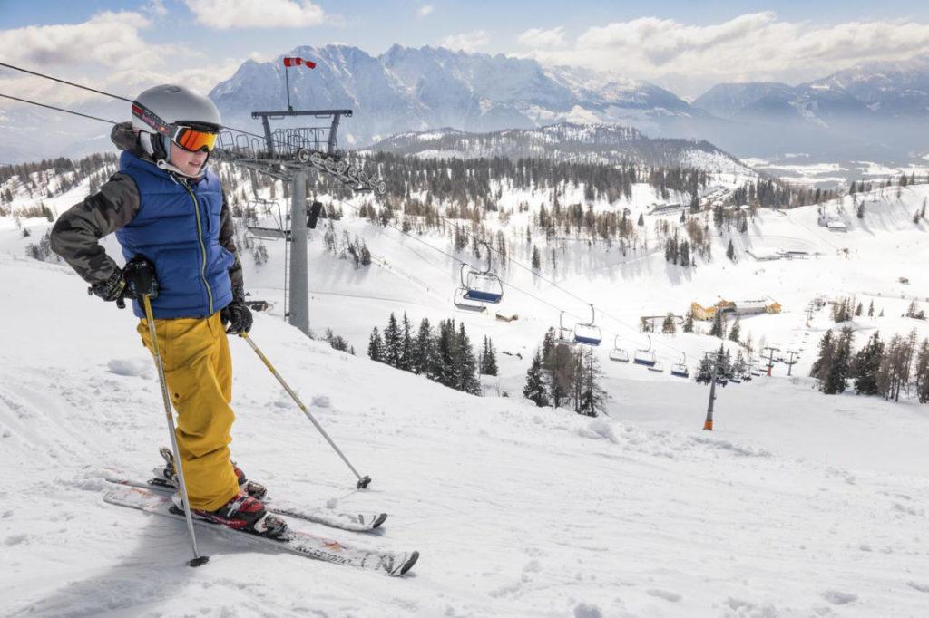 Salzkammergut Skifahren Kind