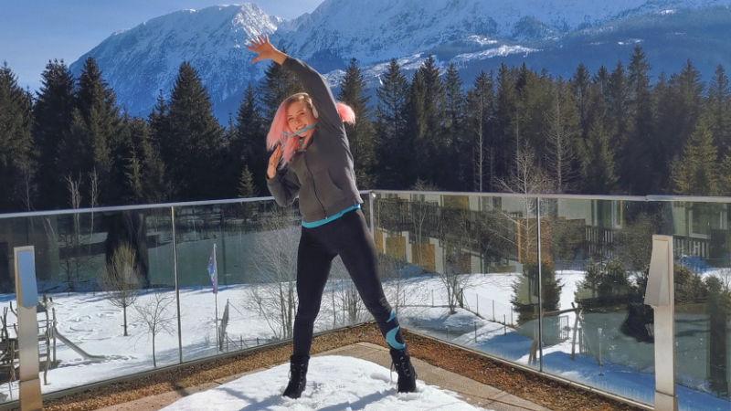 Skigymnastik Seitlich Strecken