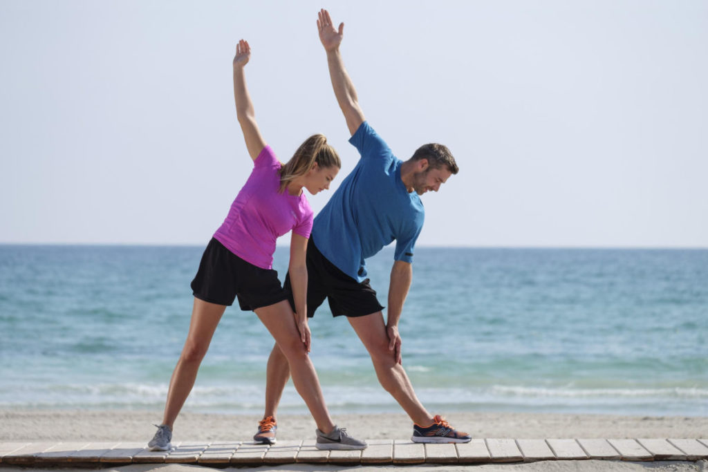 Stretching im Urlaub