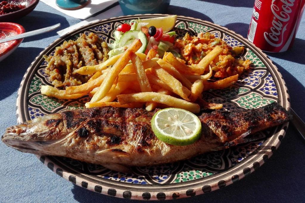 Tunesien Djerba Fischessen