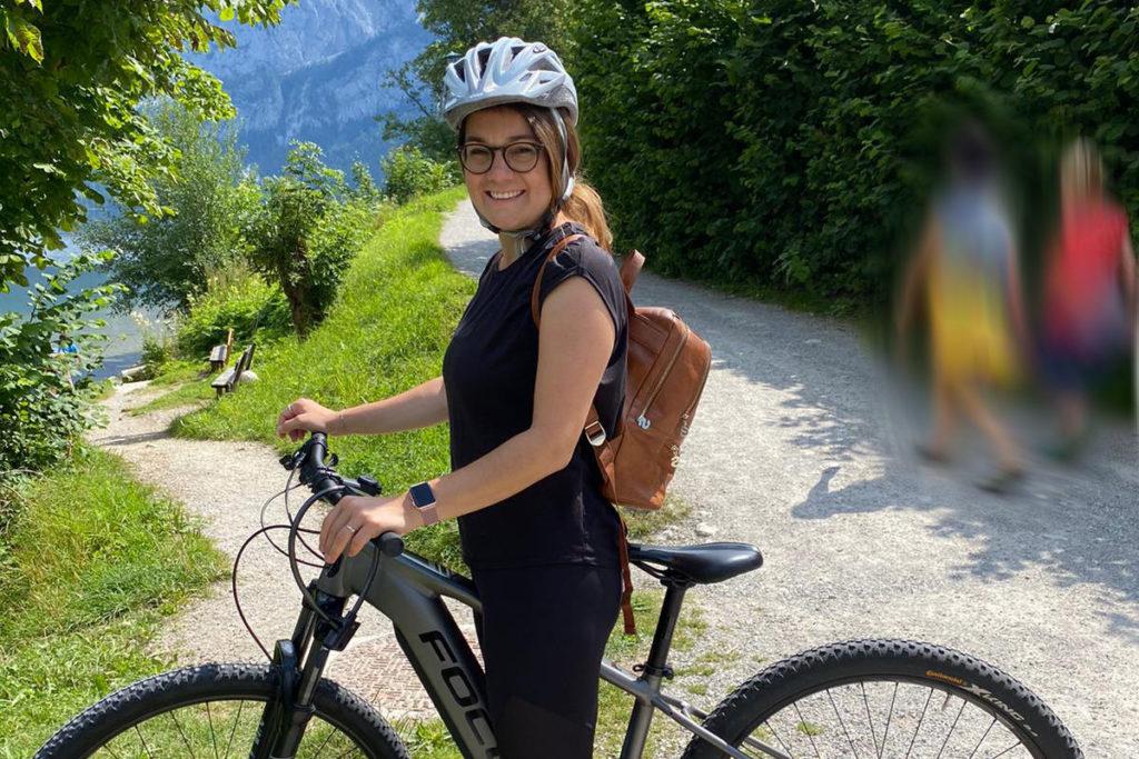 Viktoria Urlaub Österreich Mountainbike