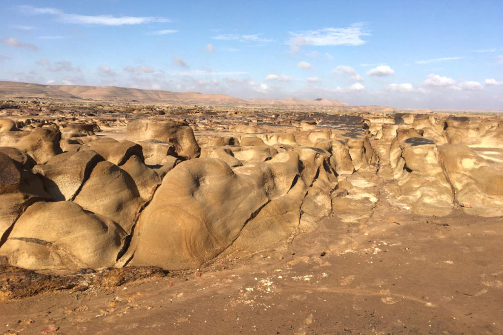 Ausflug Wüste Tunesien Mondlandschaft